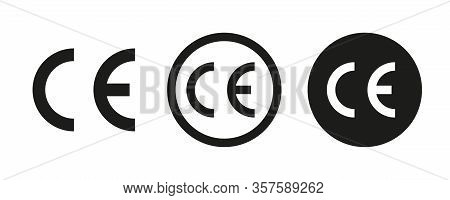 Ce Vector Signs Or Symbols Isolated On White Background. Vector Icon Quality Guarantee. Certificate
