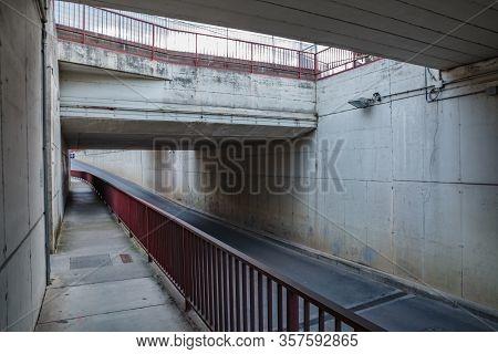 Roadway. Tunnel. No People. No Cars. No One. Manzano, Friuli-venezia Giulia. Italy