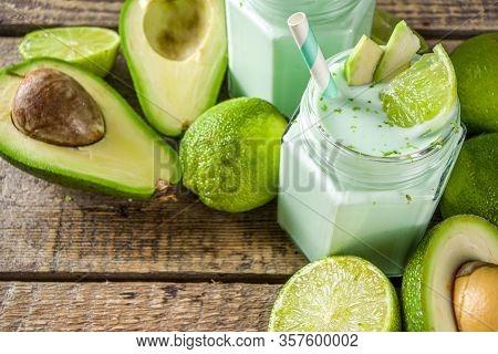 Avocado Milk Shake Or Smoothie