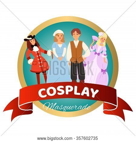 Costume Party With Renaissance Clothing Woman Man Character In Medieval Fashion Vintage Dress Histor