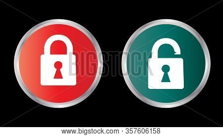 Lock Icon Isolated Black On Black Background, Lock Icon Vector Flat Modern, Lock Icon, Lock Icon Eps