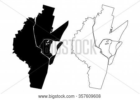 Alkmaar City (kingdom Of The Netherlands, North Holland) Map Vector Illustration, Scribble Sketch Ci