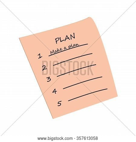 To Do List, Planning To-do List Icon, Vector Flat Illustration