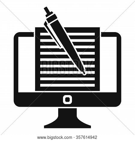 Computer Editor Icon. Simple Illustration Of Computer Editor Vector Icon For Web Design Isolated On