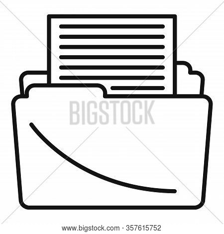 Article Editor Icon. Outline Article Editor Vector Icon For Web Design Isolated On White Background