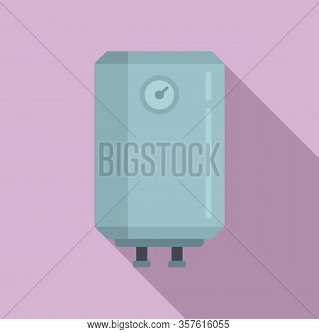 Warming Boiler Icon. Flat Illustration Of Warming Boiler Vector Icon For Web Design