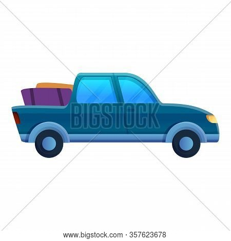 Pickup Trip Icon. Cartoon Of Pickup Trip Vector Icon For Web Design Isolated On White Background
