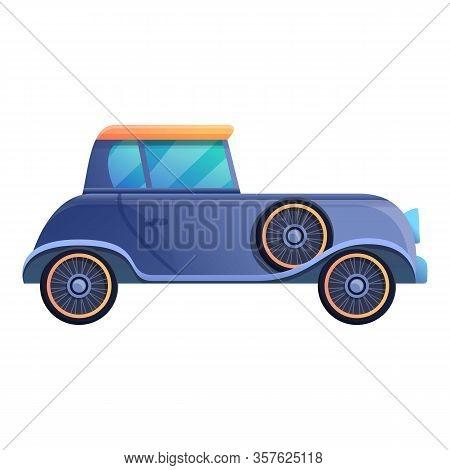 Comic Retro Car Icon. Cartoon Of Comic Retro Car Vector Icon For Web Design Isolated On White Backgr