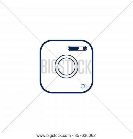 Camera Icon Flat Style Isolated On White Background. Camera Symbol For Web Site Design, Logo, App, U