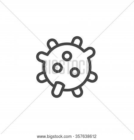 Virus Microorganism Icon. Microbe Or Micro Bacterium Symbol. Virology Research, Epidemic Prevention,