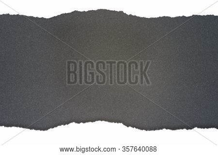White Ripped Paper With Black Background, Ripped Paper Border