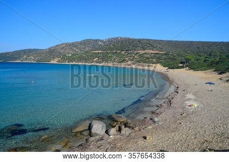 View of the Porto Sa Ruxi beach