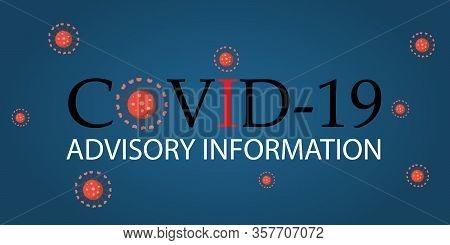 Covid-19 Advisory Information Corona Virus Web Banner