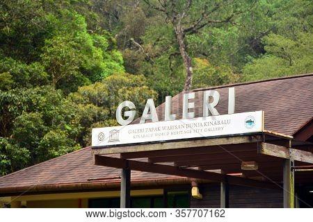 Sabah, My-june 18: Kinabalu World Heritage Site Gallery Letter Sign On June 18 2016 In Sabah, Malays
