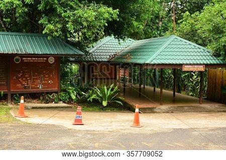 Sabah, My - June 18: Poring Hot Spring Ticket Inspection Counter Facade On June 18, 2016 In Sabah, M