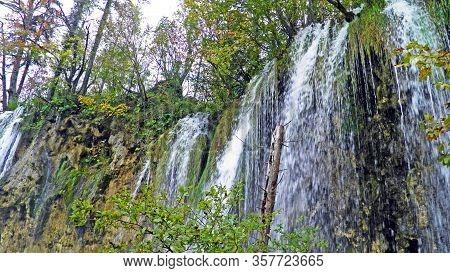 Landscape And Environment Of Plitvice Lakes National Park Or Nacionalni Park Plitvicka Jezera, Unesc