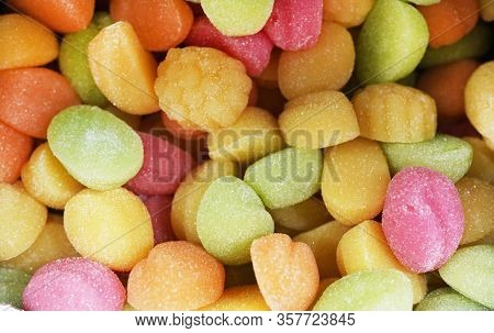 Macro Photo Multi-colored Marmalade Jelly Candy's