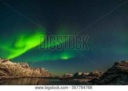 The Polar Arctic Northern Lights Hunting Aurora Borealis Sky Star In Norway Travel Photographer Moun