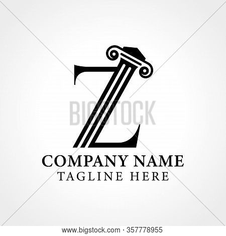 Attorney & Law Initial Letter Z Logo With Creative Modern Typography Vector Template. Abstract Lette
