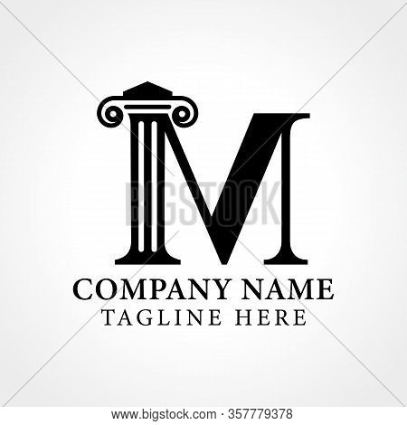 Attorney & Law Initial Letter M Logo With Creative Modern Typography Vector Template. Abstract Lette