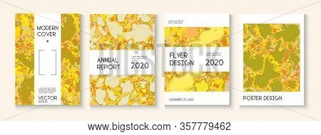 Geographic Map Fluid Paint Vector Cover. Trendy Magazine, Corporate Identity Template. Funky Earth D