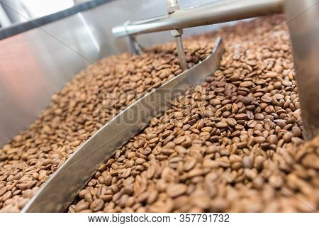 Coffee Roasting Machine With Coffe Brown Beans
