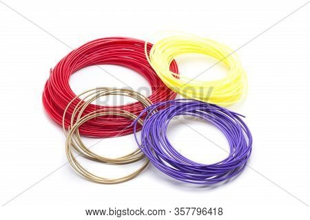 Different Colored Filament For Use In 3d Printers
