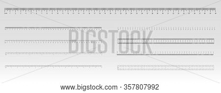 Measurement Scale, Markup For A Ruler. Measuring Tool. The Release Of The Ruler. Size Indicator Unit