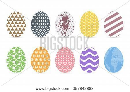 Happy Easter Calligraphic Lettering On White Background.