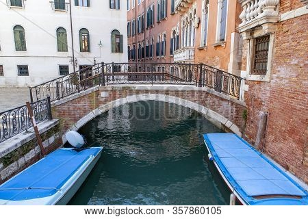One Of The Many Pedestrian Bridges That Connect The City In Venice