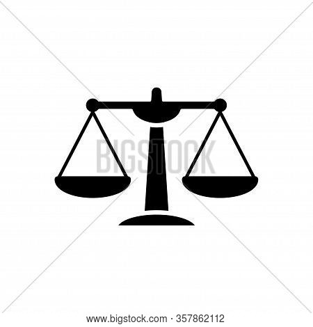 Scale Of Justice Icon Vector Template Design Trendy