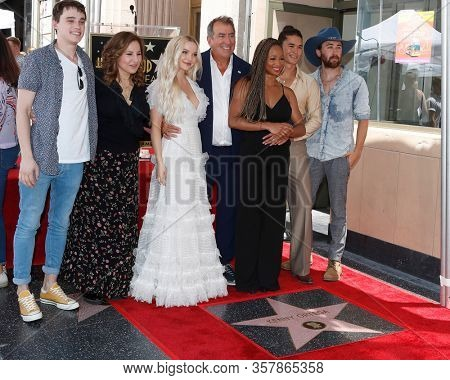 LOS ANGELES - OCT 19:  Kenny Ortega, Kathy Najimy, Dove Cameron, Monique Coleman, Booboo Stewart at the Kenny Ortega Star Ceremony on the Hollywood Walk of Fame on October 19, 2019 in Los Angeles, CA