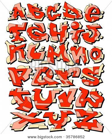 Graffiti Font Alphabet Urban Art Design poster