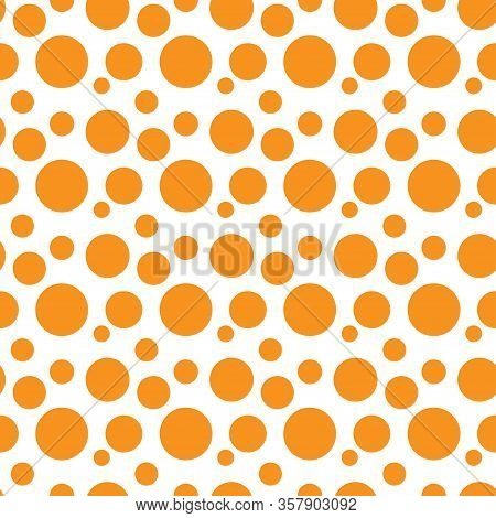 Abstract Vector Seamless Color Pattern With Circle Figures Symbol. Simplified Symbolic Ornament. Bac