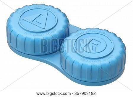 Contact Lens Case Isolated On White Background - 3d Illustration
