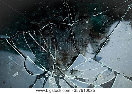 Texture Of Broken Glass.