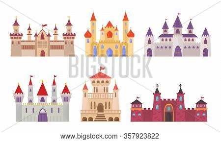 Fairytale Castles. Medieval Buildings Fortress Fantasy Gothic Architecture Towers For Kings And Quee
