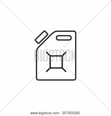 Gasoline Canister Vector Icon. Filled Flat Sign For Mobile Concept And Web Design. Jerrycan Glyph Li