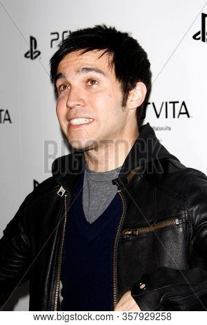 LOS ANGELES - FEB 15:  Pete Wentz at the Sony PlayStationAE Unveils PS VITA Portable Entertainment System at the Siren Studios on February 15, 2012 in Los Angeles, CA