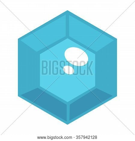 Gem Jewelery Stone With Facets Carat In Blue Color Vector