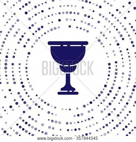 Blue Christian Chalice Icon Isolated On White Background. Christianity Icon. Happy Easter. Abstract
