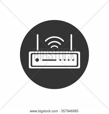 Router Modem Wifi Icon Vector Illustration Flat