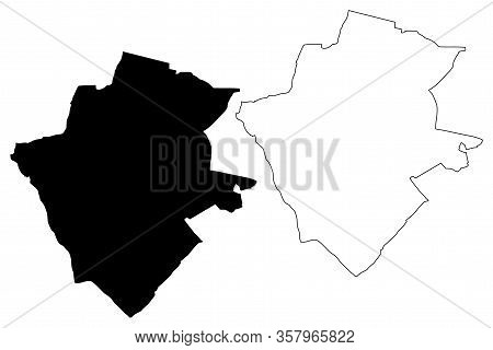 Zielona Gora City (republic Of Poland, Lubusz Voivodeship) Map Vector Illustration, Scribble Sketch
