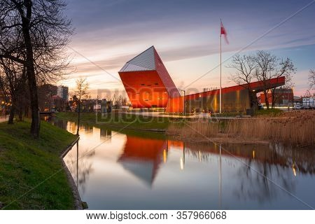 Gdansk, Poland - March 19, 2020: Museum of the Second World War in Gdansk, Poland. The Museum main exhibition covering an area of about 5,000 square metres.
