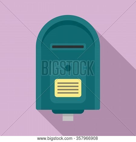 Full Mailbox Icon. Flat Illustration Of Full Mailbox Vector Icon For Web Design