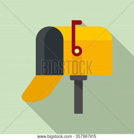 Open Home Mailbox Icon. Flat Illustration Of Open Home Mailbox Vector Icon For Web Design