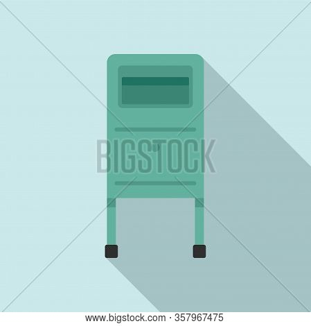 Postbox Icon. Flat Illustration Of Postbox Vector Icon For Web Design