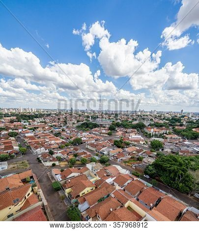 Panoramic Aerial View Of The Autonomist Neighborhood And Surroundings, At The City Of Campo Grande M