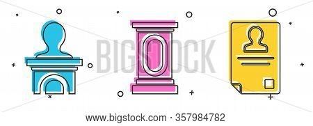 Set Stage Stand Or Debate Podium Rostrum, Stage Stand Or Debate Podium Rostrum And Identification Ba