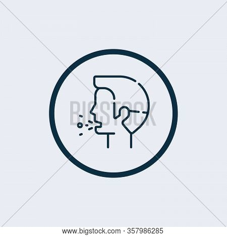 Cough Icon Isolated On White Background From Virus Collection. Cough Icon Trendy And Modern Cough Sy